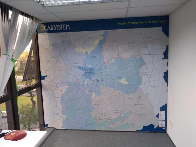 Mapa Ruas , Bairros e Regiões de SP e Região Metropolitana - Painel Magnético
