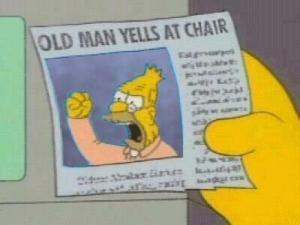 Old Man Yells at Chair