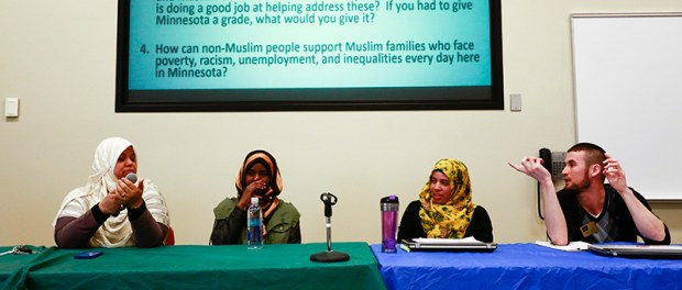 The Muslim Student Association invited the MCTC community to a forum on recent terrorism charges. (Photo: Chris Juhn/City College News)