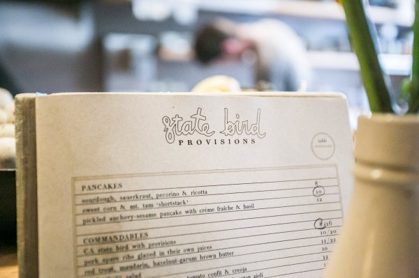 State Bird Provisions - Marked Menu
