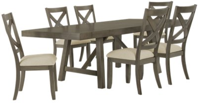 fs omaha gray rect table 4 wood chrs kitchen table omaha Omaha Gray Rectangular Table 4 Wood Chairs