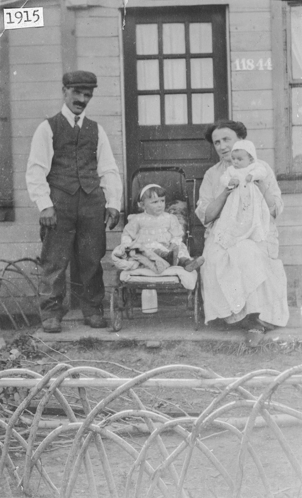 Francesco and Carolina Rusconi with daughters Angela and Florence at 11844 106 St., Edmonton circa 1915. From the Louis Biamonte finds. Image courtesy of the Provincial Archives of Alberta A10913. Do not reproduce.