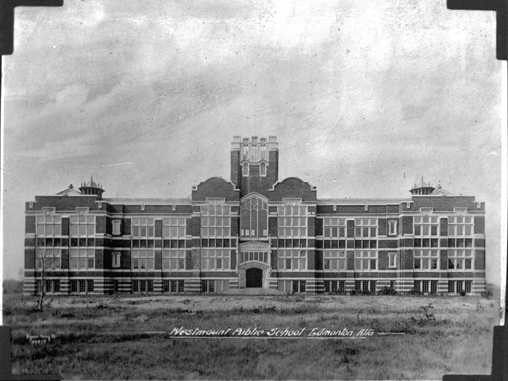 Westmount Public School, circa 1920. Provincial Archives of Alberta, A13891.