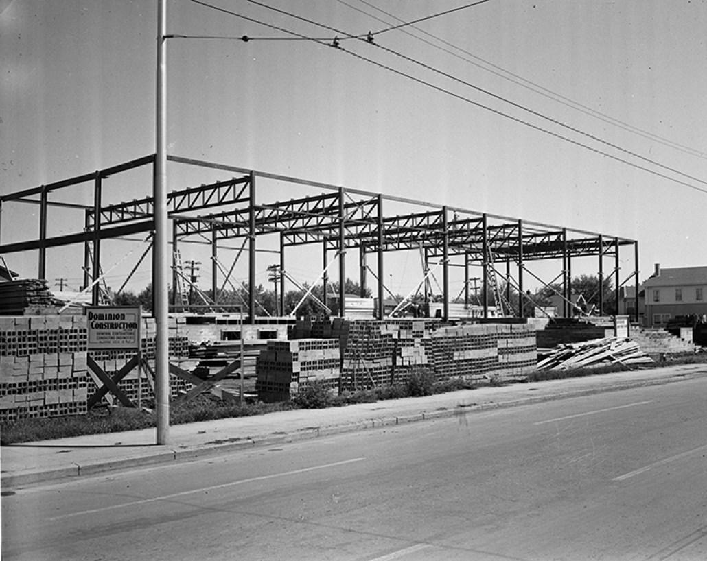 Beth Shalom Synagogue under construction. July 24, 1950. Image courtesy of the City of Edmonton Archives EA-600-4707.