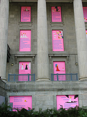 Signos de memoria: ventanas rosadas en City Hall. 2006
