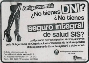 05. Perú: Municipalidad de Lima apoya a la comunidad trans para conseguir seguro de salud y DNI