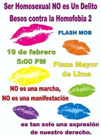 10. Perú: Se celebró el Día de la Dignidad LGBT: Besos contra la Homofobia en la Plaza de Armas
