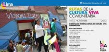 09. Perú: Se realizó el II Seminario Internacional de Cultura Viva Comunitaria