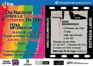 03. Perú: Ciudadaniasx participó en la feria informativa organizada por el Día Nacional contra los crímenes de odio hacia LGBT