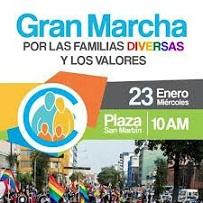 02. Perú: Activistas LGTB participan marcha Pro Familia en defensa de la diversidad