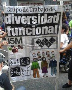 """12. España: """"Ni discapacitados ni enfermos, cuerpos deseantes"""". Marcha por la Visibilidad de las Personas con Diversidad Funcional"""