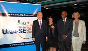 08. Brasil: Entregan al Secretario General de Naciones Unidas 56 mil adhesiones de hombres comprometidos en poner fin a la violencia contra las mujeres