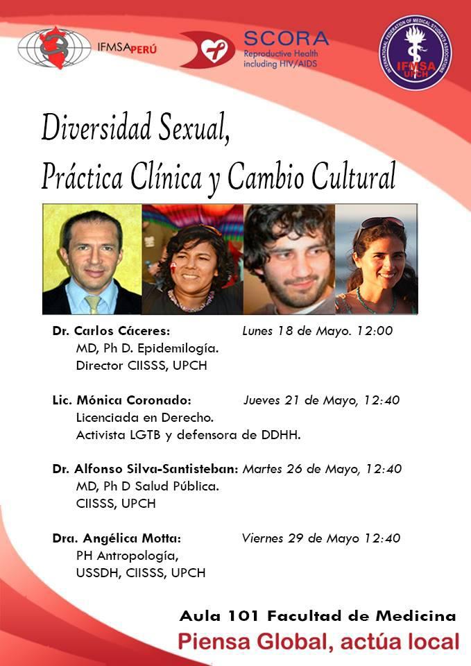 """Perú: Estudiantes de Medicina de la UPCH realizan conversatorio sobre """"Diversidad Sexual, Práctica Clínica y Cambio Cultural"""""""