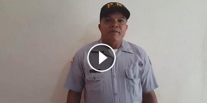 Se vuelve viral vídeo oficial quiere largarse de la PN