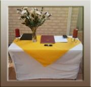 Marriage Celebrant, marriage registration desk.