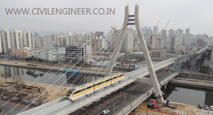 SK cable-stayed monorail bridge