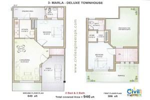 Marla modern house plan small house plan ideas modrenplan blogspot - 28 Home Design 4 Marla House Plan W A E Company