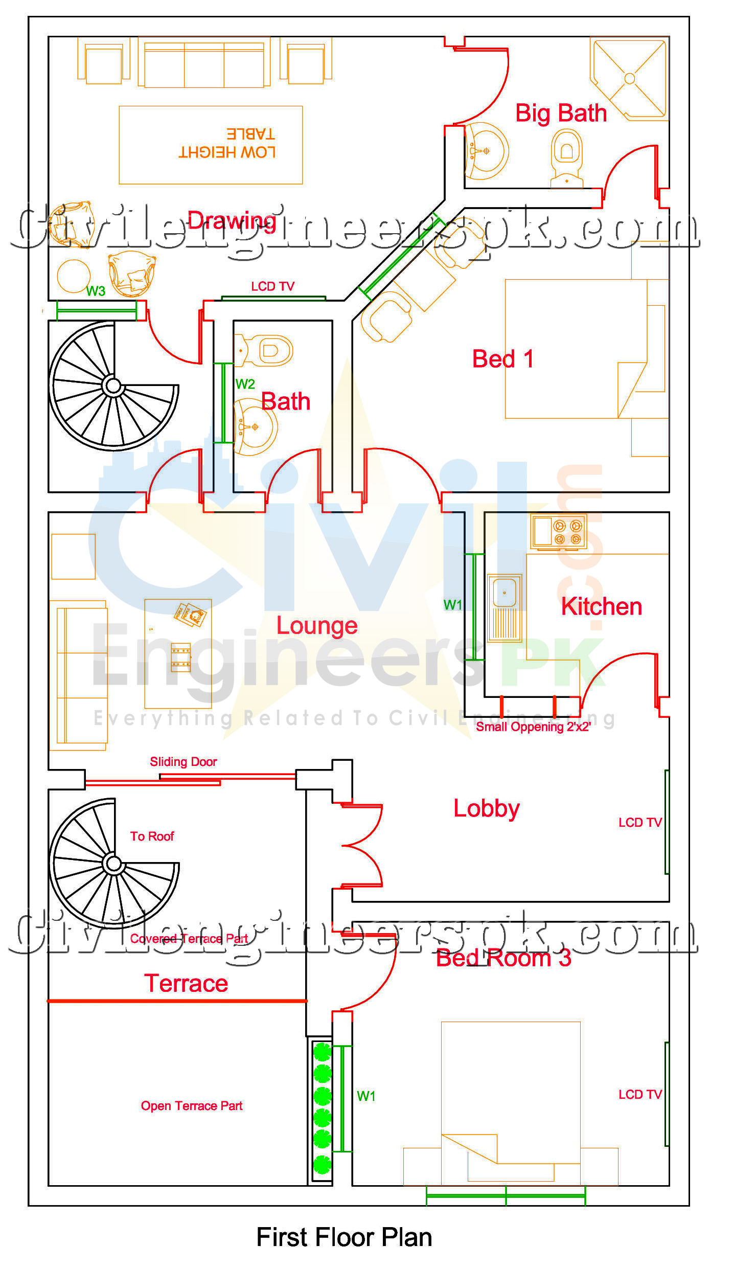 5 Marla House Design For 2 Separate Families Civil
