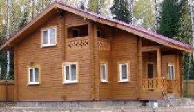 Возведение домов из клееного бруса