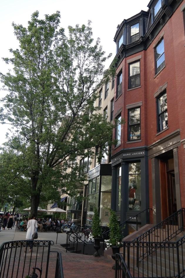 Boston Newbury Avenue Shopping Brick Houses