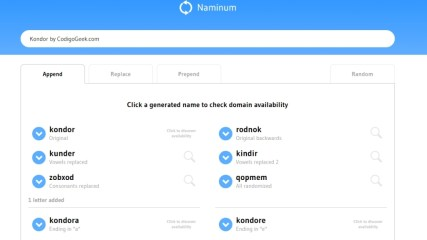 Naminum, generador de nombres para emprendedores