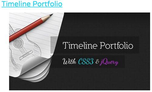 Timeline Portfolio CSS3: HTML