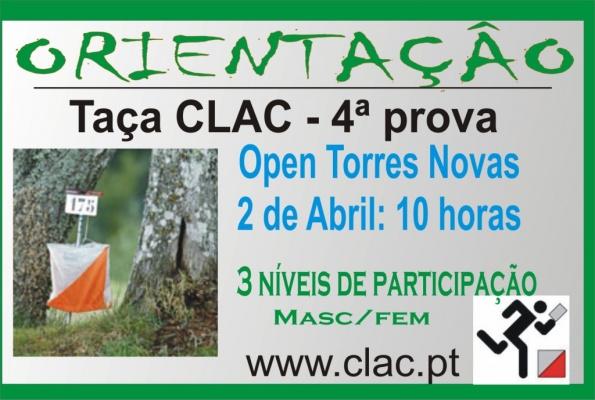 mapa de Torres Novas, recebe, Taça CLAC em Orientação: