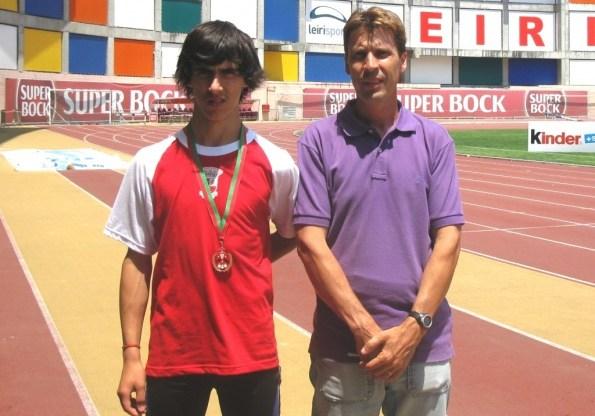 Fábio Martins no pódio do Olímpico Jovem Nacional