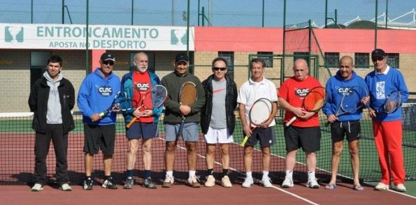 Em Ténis,veteranos mais de 55 venceu a equipa do C.T. C.da Rainha