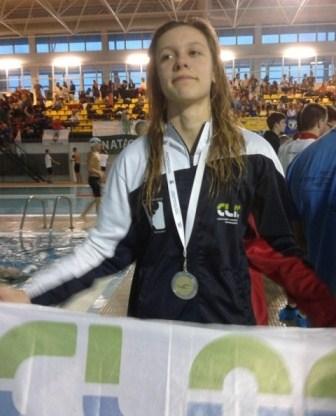 NATAÇÃO  Sara Dias Vice-Campeã 100 m livres