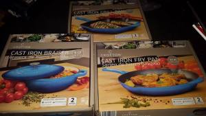 boxed cast iron cookware from Aldi