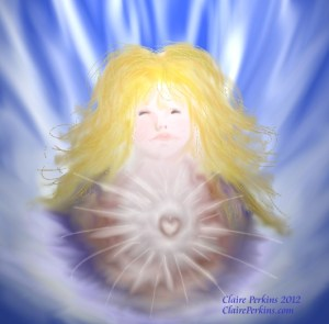 """""""Radiance of Being"""", digital painting."""