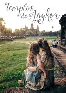 Templos de Angkor con niños