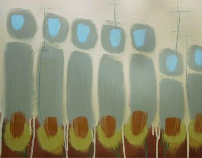 """Receptors"" Oil on paper. 36cm x 46cm. April 2016"
