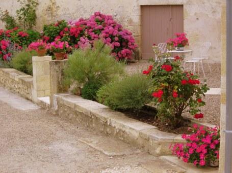 Flower filled garden and terrace