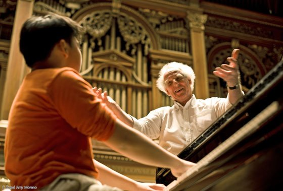 George Li and Ben Zander rehearse (Ángel A. Amy Moreno photo)
