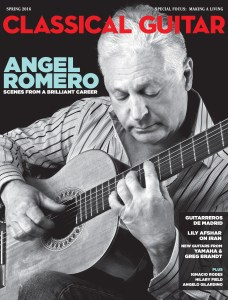 Classical Guitar Spring 2016 Issue. Angel Romero. Making a Living as a Classical Guitarist. Elliot Fisk. Bach. The Beatles. Milos.
