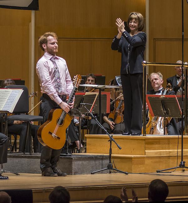Marko Topchii and JoAnn Falletta (photo E. Elibol WNED)