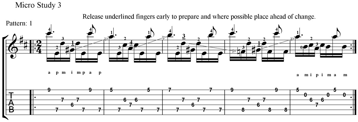 Classical Guitar Method Barrios Prelude Micro Study 3