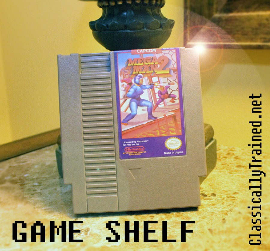 game shelf Mega Man 2 classically trained