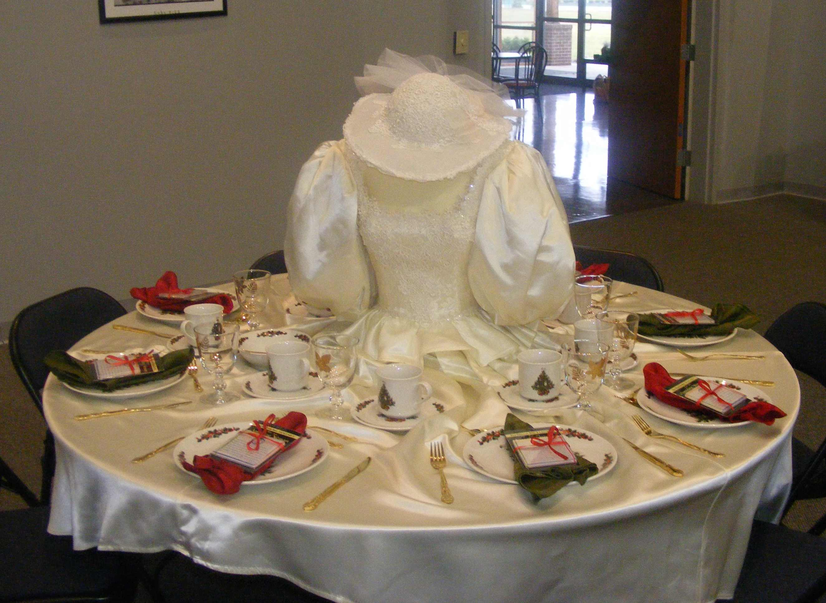 a wedding gown as a table cloth classic cleaners of indianapolis gave it a try wedding dress preservation Classic Cleaners partner and wedding gown cleaning and preservation specialist Leon