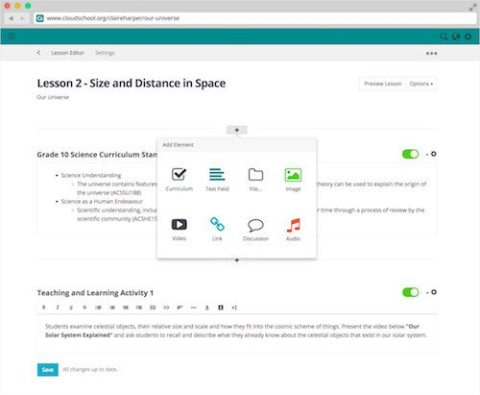 Cloudschool Free Learning Management System for Teachers