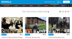 Newsela Text Sets: Paired Passages for Literature and Current Events