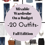 Create a Mixable Wardrobe On a Budget Series Part 4: 20 Outfits – Fall Edition