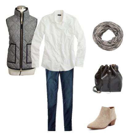 11 white shirt - vest - jeans