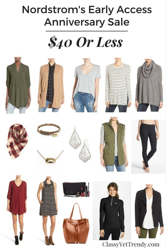 Nordstrom Anniversary Sale: $40 Or Less