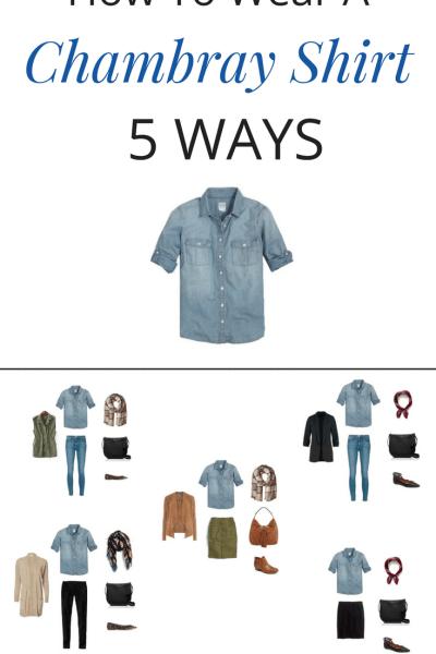 How To Wear a Chambray Shirt 5 Ways (Fall Season)
