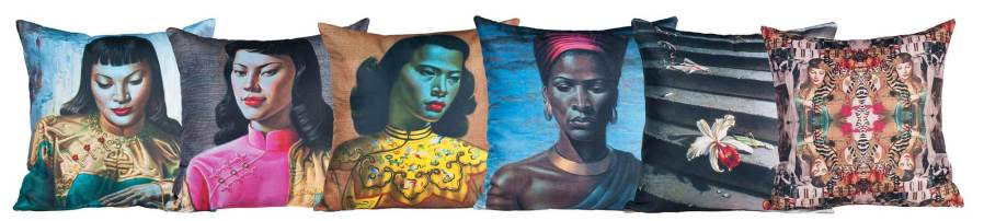Tretchikoff Cushions product photography cape town claude felbert