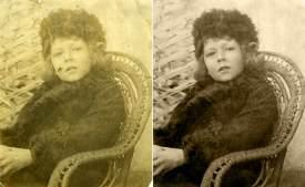 Photo restoration and retouching circa 1915