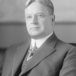A snub between California Governor Hiram Johnson (shown here, governor of California and Charles Evans Hughes was the reason.